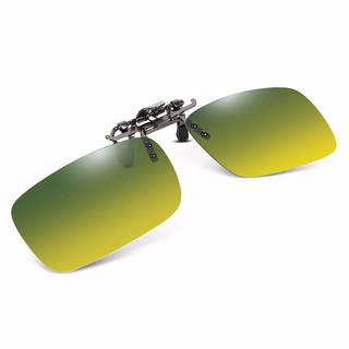 趣行 上翻式日夜两用夹片墨镜 双色防紫外线汽车驾驶钓鱼太阳镜 近视镜配套夹片 男女通用款夹子墨镜