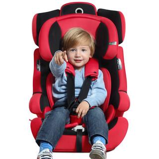 Ganen 感恩 感恩(ganen)宝宝汽车儿童安全座椅阿瑞斯 钢骨架汽车isofix硬接口 9个月-12岁 红黑色