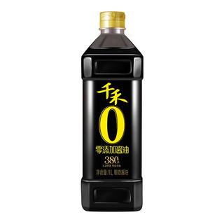 千禾 酱油 380天特级生抽  酿造酱油 1L