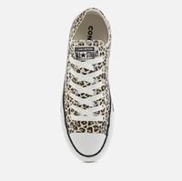 中性豹纹运动鞋