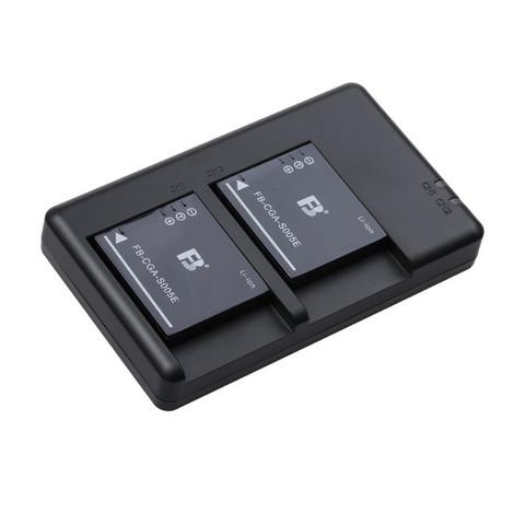 FB 沣标 CGA-S005E 数码相机锂电池 两电双充套装