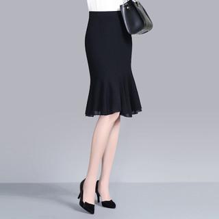 2021春夏新款韩版修身半身裙女中长款