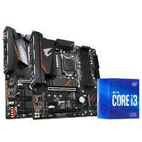 intel 英特尔  I3-10100F盒装CPU+技嘉H410M H主板套装