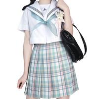 Mirai 未来制服馆 小茉莉 JK制服 女士格裙 绿色 42cm S