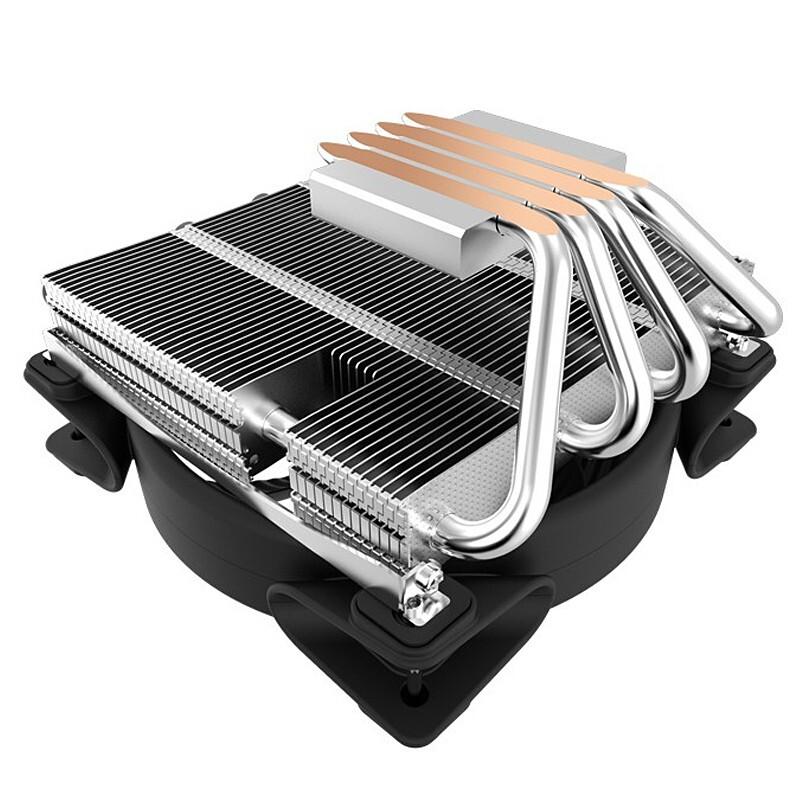 PCCOOLER 超频三 降龙 CPU散热器 (多平台/AM4/2066/4热管/12CM智能光圈风扇/CPU风扇/台式机电脑散热)
