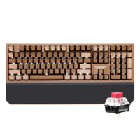 HEXGEARS 黑峡谷 X5 108键 双模无线机械键盘 浓情巧克力 凯华BOX流沙金 单光