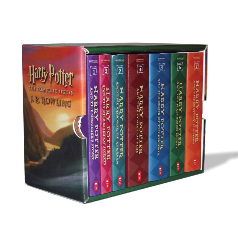 《Harry Potter 哈利波特》(英文原版、礼盒装、套装共7册)