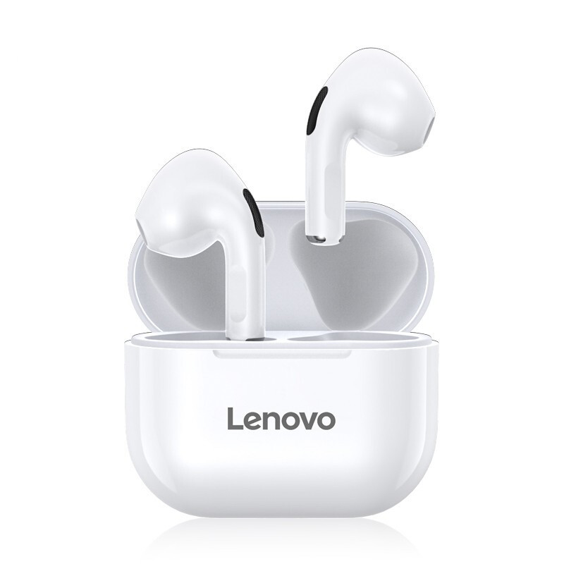 ThinkPad 思考本 联想(Lenovo) LP40白色 真无线蓝牙耳机 半入耳式跑步运动耳机 重低音音乐耳机 通用苹果华为小米手机