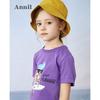 Annil 安奈儿 短袖印花亲子装