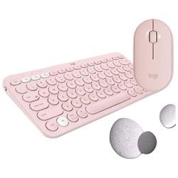 logitech 罗技 K380键盘+ Pebble鼠标 无线键鼠套装 粉色