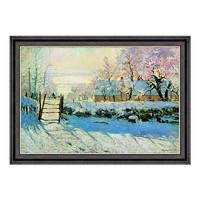 艺术品:雅昌 莫奈风景油画《喜鹊》背景墙装饰画挂画 70×50cm 油画布