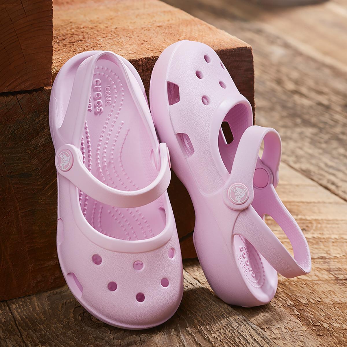 Crocs 卡骆驰 夏季女童玛丽珍洞洞鞋