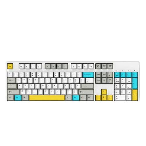 GANSS 迦斯 高斯GM108D蓝牙双模机械键盘108键Cherry轴机械键盘 游戏键盘 黑色墨刻 黑轴