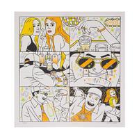 ARTMORN 墨斗鱼艺术 艺术家张亮原创版画作品Liquor 21*21厘米 潮流艺术 2020年 RISO版画
