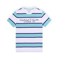 NAUTICA 诺帝卡 VC91914XN 男士条纹撞色短袖T恤