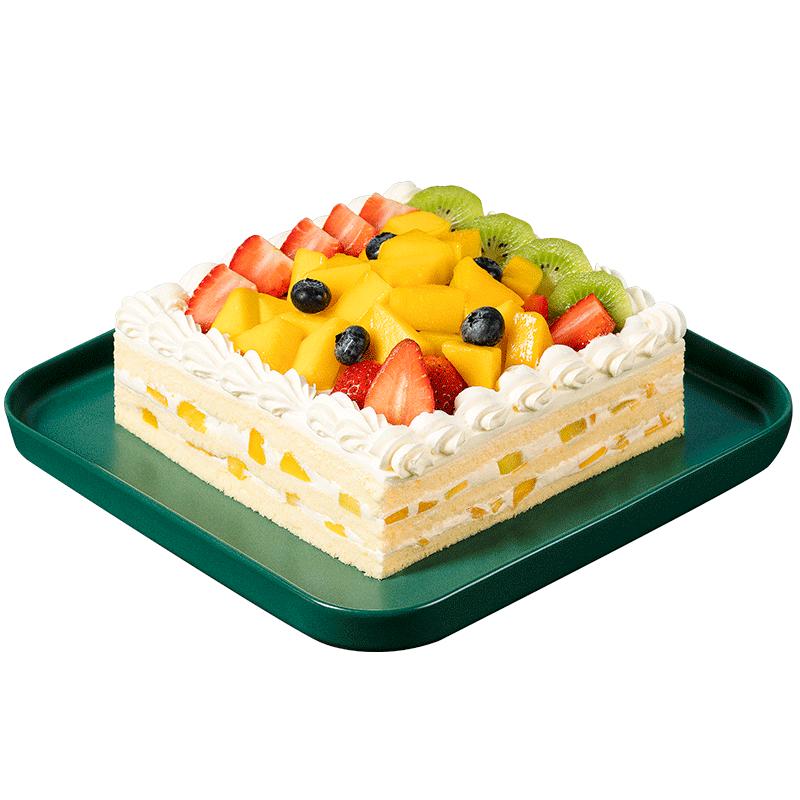 熊猫不走 蛋糕 百果园 鲜果奶油蛋糕 2磅