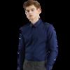 DaiShu 袋鼠 男士长袖衬衫 1B133261820 藏青 4XL