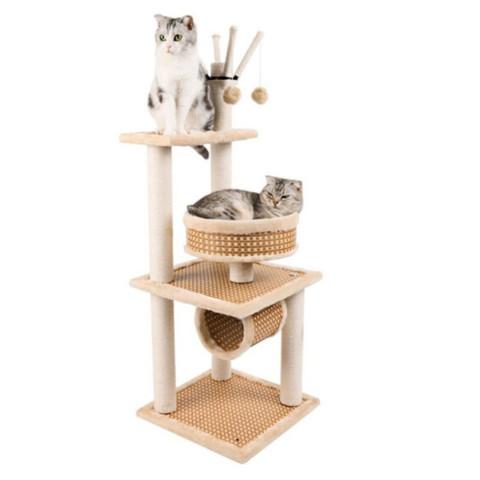 猫爬架猫咪夏季猫窝凉席款猫玩具猫爬架猫抓板猫树窝宠物用品 凉席款116型