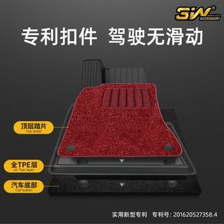 3W 搭配TPE橡胶垫双层雪妮丝毯面棕色定制