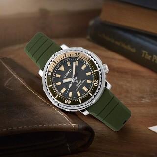 SEIKO 精工 精工(SEIKO)手表 PROSPEX系列200米潜水太阳电能迷彩绿军旅运动风小罐头石英手表  SUT405P1