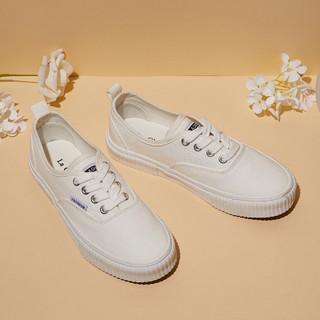 La Chapelle 拉夏贝尔 女士运动休闲鞋小白鞋