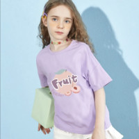 棉致 女童印花圆领短袖