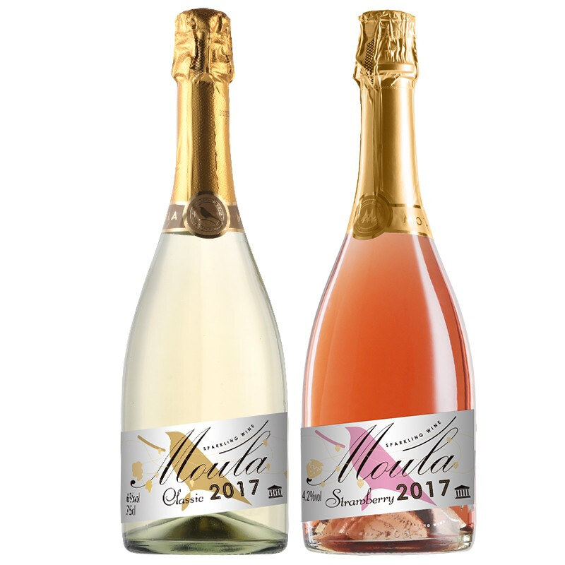 mulla 慕拉 莫斯卡托起泡酒 甜型气泡葡萄酒 女士微醺果酒低度甜酒 750ml*2 双支装组合(经典+草莓)