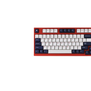 Leopold 利奥博德 FC980M PD 98键 有线机械键盘 红蓝 Cherry灰轴 无光