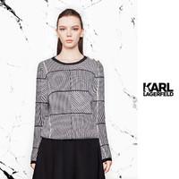 KARL LAGERFELD 卡尔·拉格斐  几何花型女式毛衣