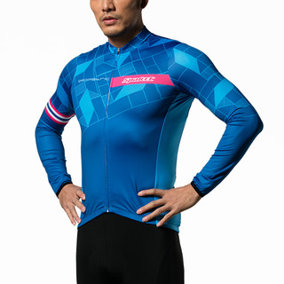 思帕客 骑行服男套装长袖春秋动感单车服夏季自行车骑行长裤女冰峰 冰峰上衣 XL