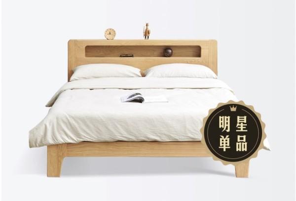 源氏木语全实木床,4处置物区,带插座、带夜灯,还有高低铺可选~