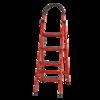 GULEINUOSI 古雷诺斯 N601-03 家用折叠梯子 红色 四步