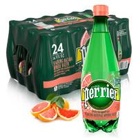 perrier 巴黎水 西柚味气泡水 500ml*24瓶