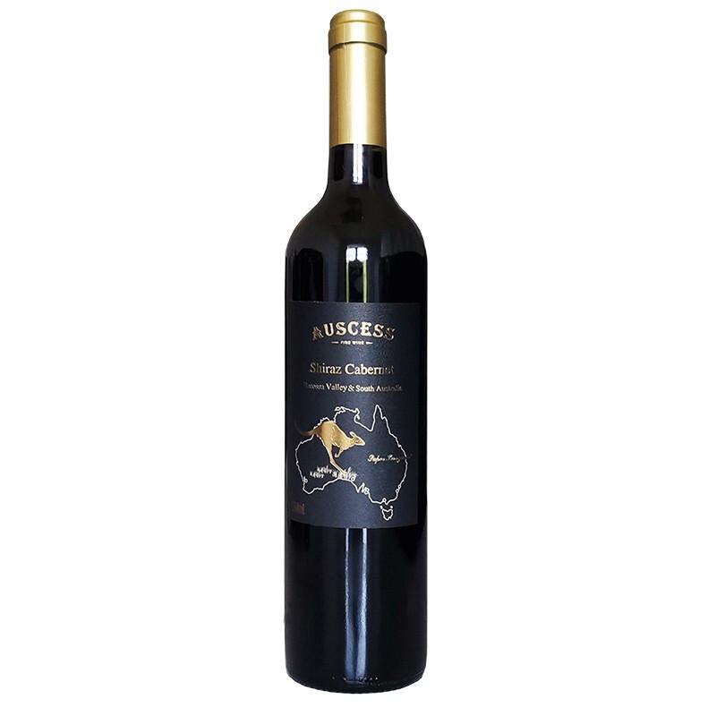 澳赛诗(AUSCESS)袋鼠系列BV&南澳西拉子赤霞珠干红葡萄酒 澳洲原瓶进口 750ml
