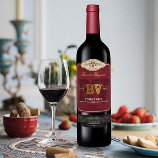 法国原瓶原装进口红酒 璞立酒庄 BV红酒 波尔多混酿红葡萄酒 750ml单支