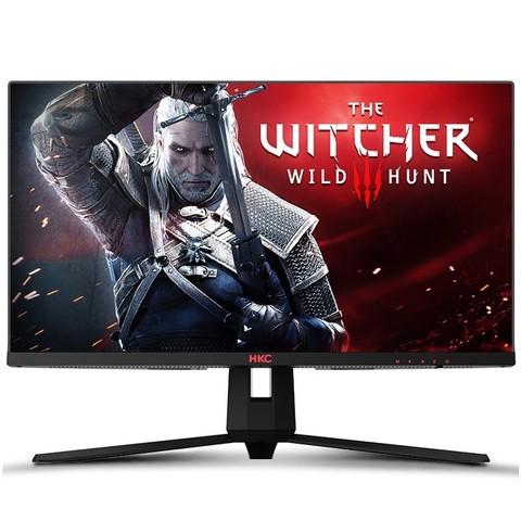 HKC 惠科 27英寸 IPS高清2k 144HZ游戏显示屏幕 1ms窄边框直面屏 网吧家用 小金刚液晶电竞 电脑显示器 IG27Q
