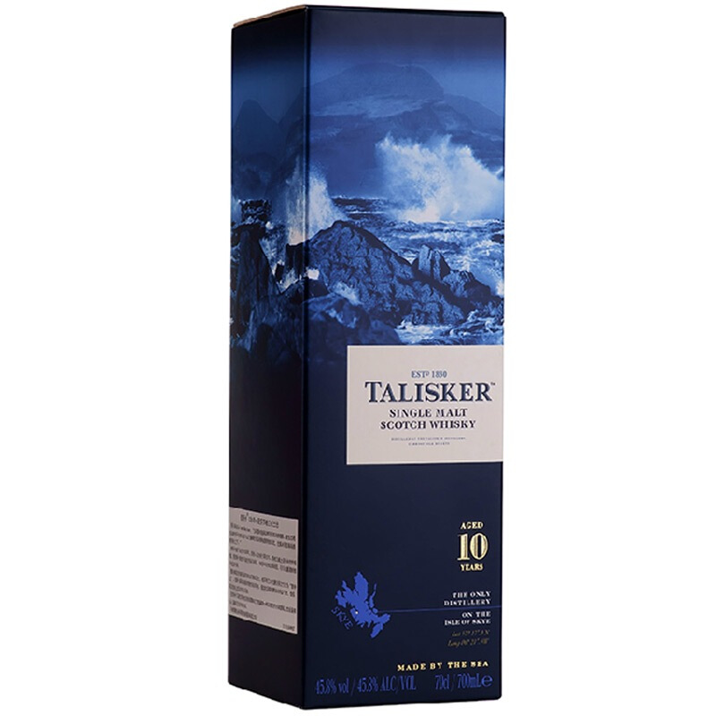 TALISKER 泰斯卡 英国原装泰斯卡 10年单一麦芽苏格兰威士忌洋酒700ml