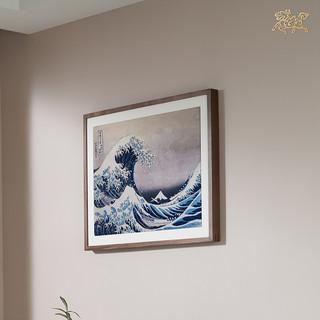 铜师傅 大英博物馆正版授权《神奈川冲浪里(大号)》铜雕画 壁画