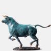 铜艺世家生肖牛纯铜摆件商务礼品办公室玄关客厅雕塑工艺品生日礼物