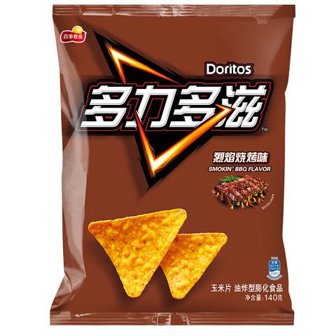 PLUS会员:Doritos 多力多滋 玉米片 烈焰烧烤味 140g