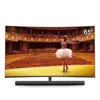 TCL 官方旗舰 65C7 (65英寸)吋 4K超高清全面屏哈曼卡顿 智能语音网络液晶曲屏电视机