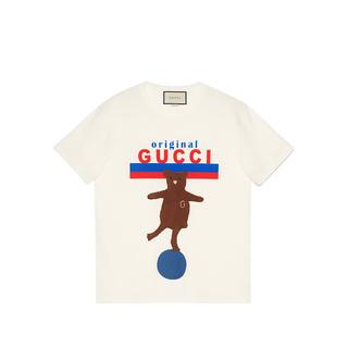 GUCCI 古驰  2020新款 女士 « Original Gucci »印花小熊刺绣圆领短袖T恤