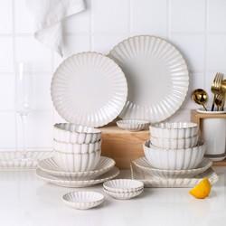 KAWASIMAYA 川岛屋 川岛屋 家用6人碗碟套装陶瓷餐具盘子碗饭碗套碗盘碟碗筷组合套装