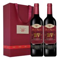 PLUS会员:璞立酒庄  BV红酒 波尔多混酿红葡萄酒 750ml*2双支装