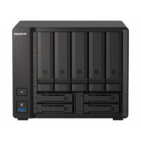 QNAP 威联通 TS-h973AX 9盘位 NAS网络存储(AMD V1500B、8GB)