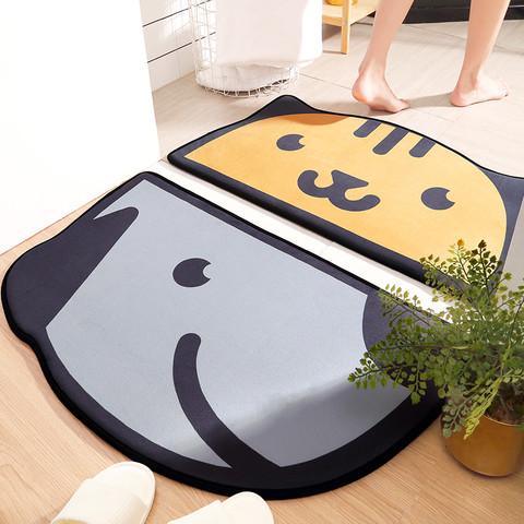 DeXi 得喜 地毯门垫家用半圆进门垫卧室卫浴门口厕所吸水脚垫卫生间浴室地垫