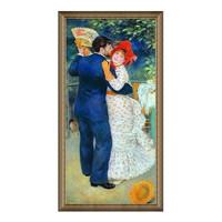 艺术品:雅昌 雷诺阿《乡间舞者》86×167cm 装饰画 油画布