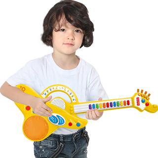 Fisher-Price 费雪 电子小吉他玩具 婴幼儿音乐启蒙玩具宝宝早教弹奏乐器女男孩黄色GMFP013