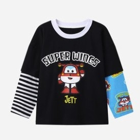 超级飞侠 男童长袖条纹打底衫