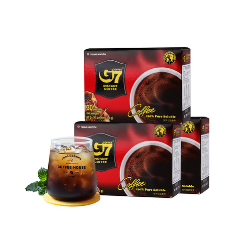 G7 COFFEE 中原咖啡 90包原装进口黑咖啡 越南无蔗糖美式纯黑咖啡180g(90包)